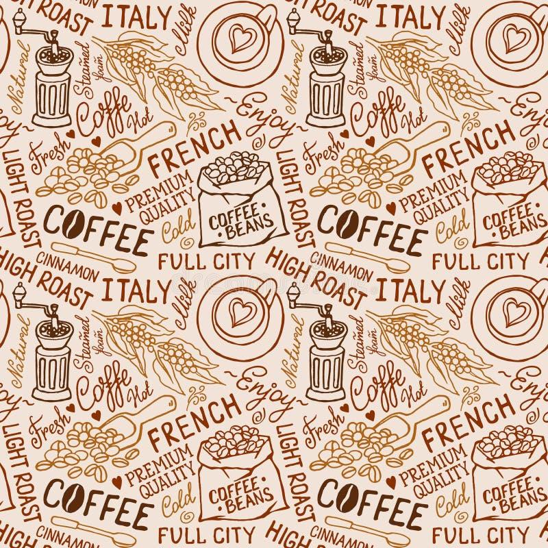Modello del caffè illustrazione di stock