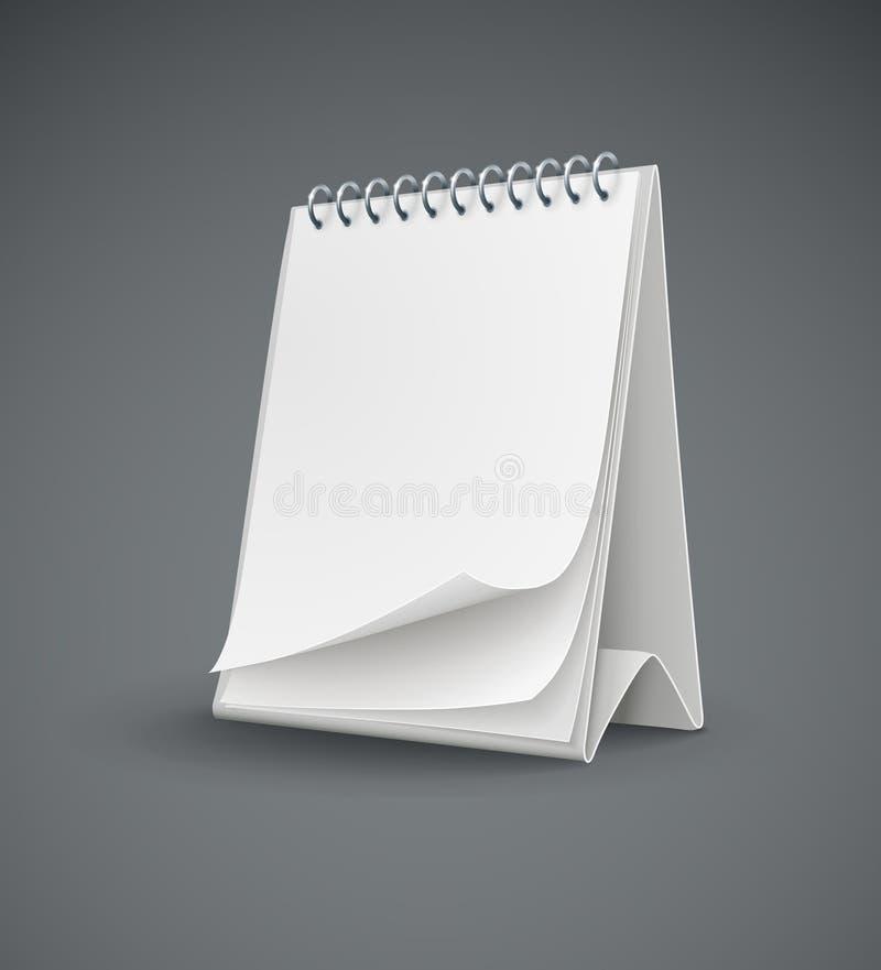 Modello del calendario con le pagine in bianco illustrazione vettoriale