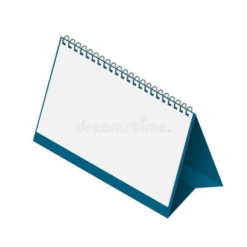 Modello del calendario da scrivania con le pagine in bianco illustrazione di stock