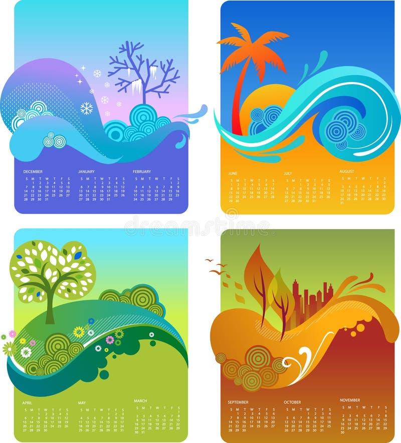 Modello del calendario di disegno - VETTORE royalty illustrazione gratis