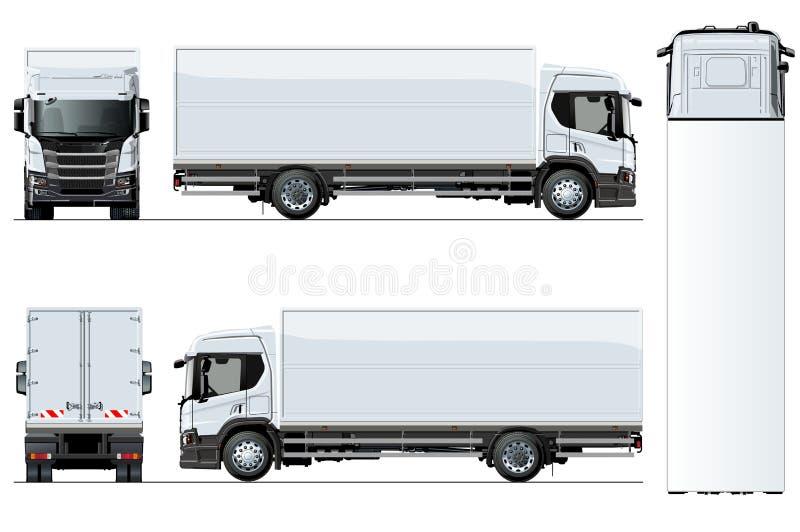 Modello del camion di vettore isolato su fondo bianco illustrazione vettoriale