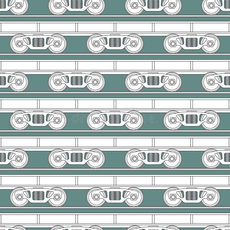 Modello del carrello ferroviario illustrazione di stock