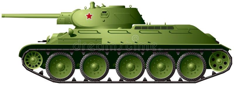 Modello 1941 del carroarmato T-34 76 illustrazione di stock