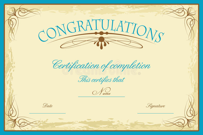 Modello del certificato royalty illustrazione gratis