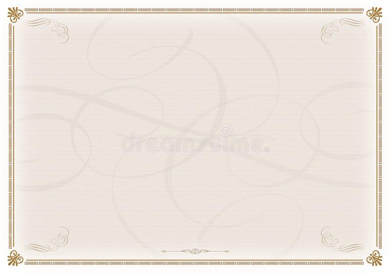 Modello del certificato