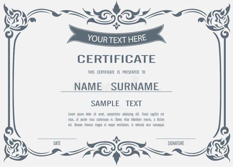 Modello del certificato di vettore illustrazione vettoriale