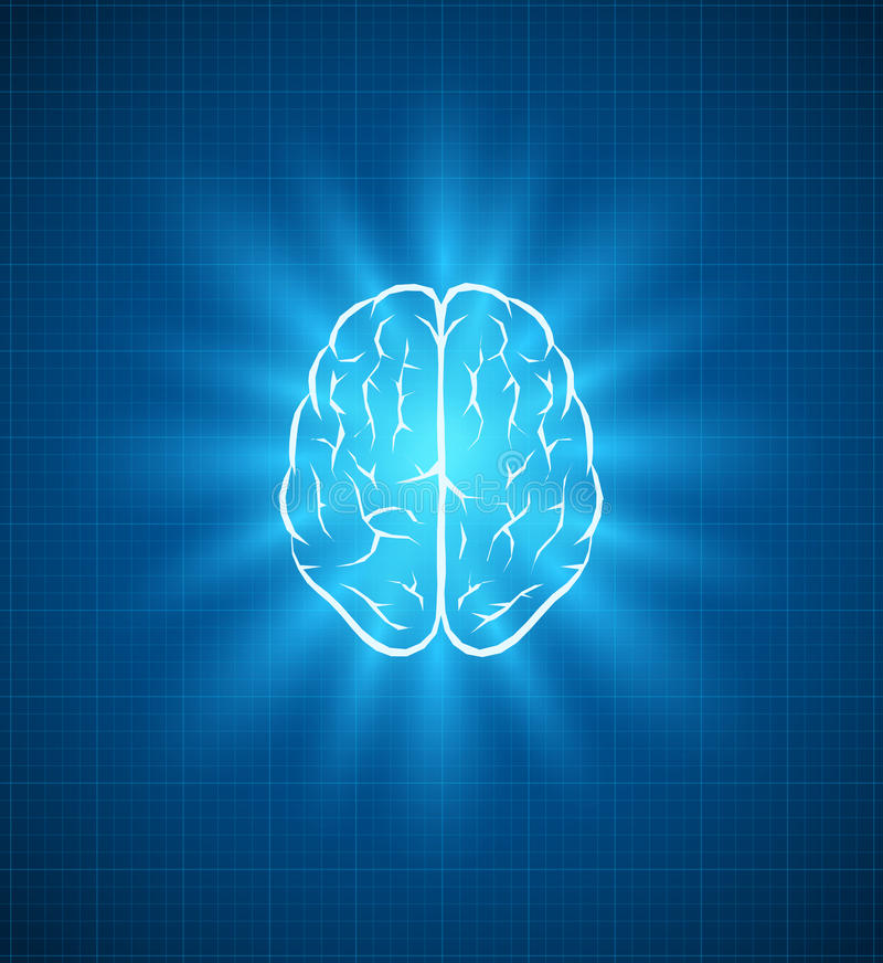 Modello del cervello royalty illustrazione gratis