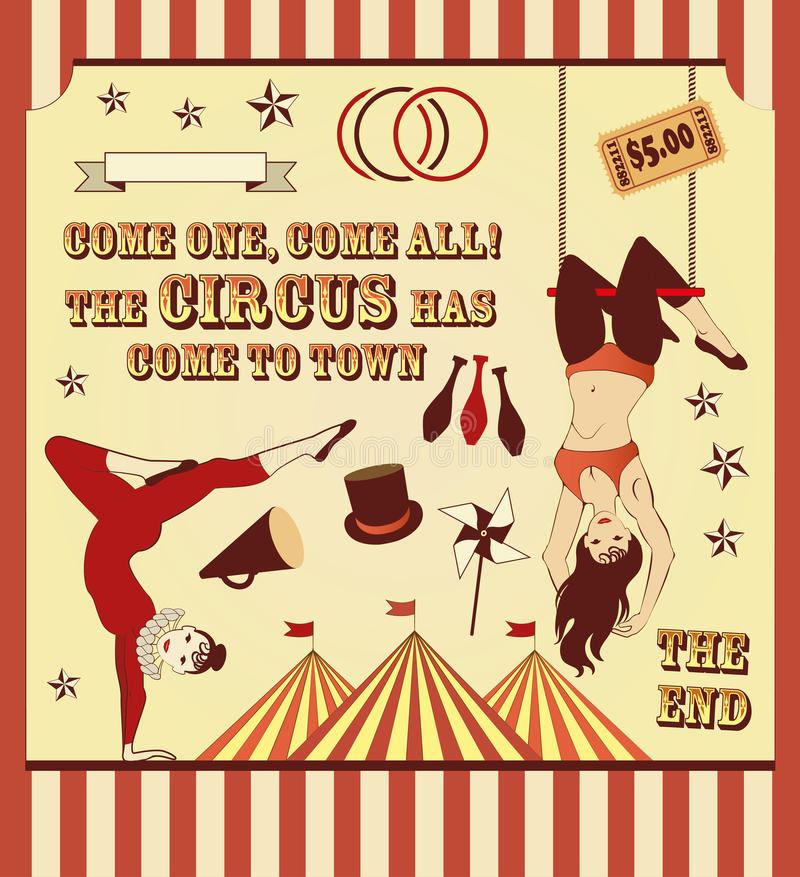 Modello del circo royalty illustrazione gratis