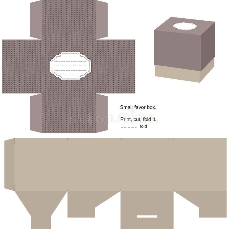 Modello del contenitore di regalo illustrazione vettoriale