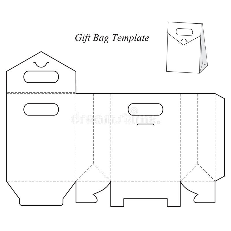 Modello del contenitore di regalo con il coperchio illustrazione vettoriale