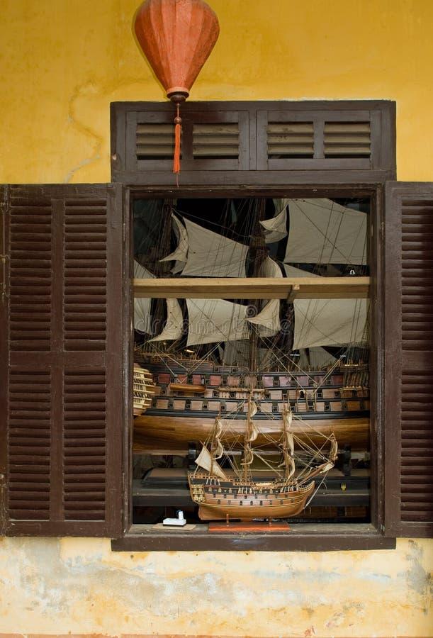 Modello del crogiolo di vela fotografie stock libere da diritti