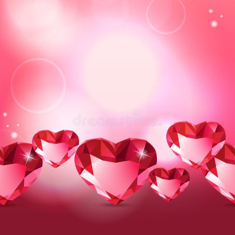 Modello del cuore del diamante royalty illustrazione gratis