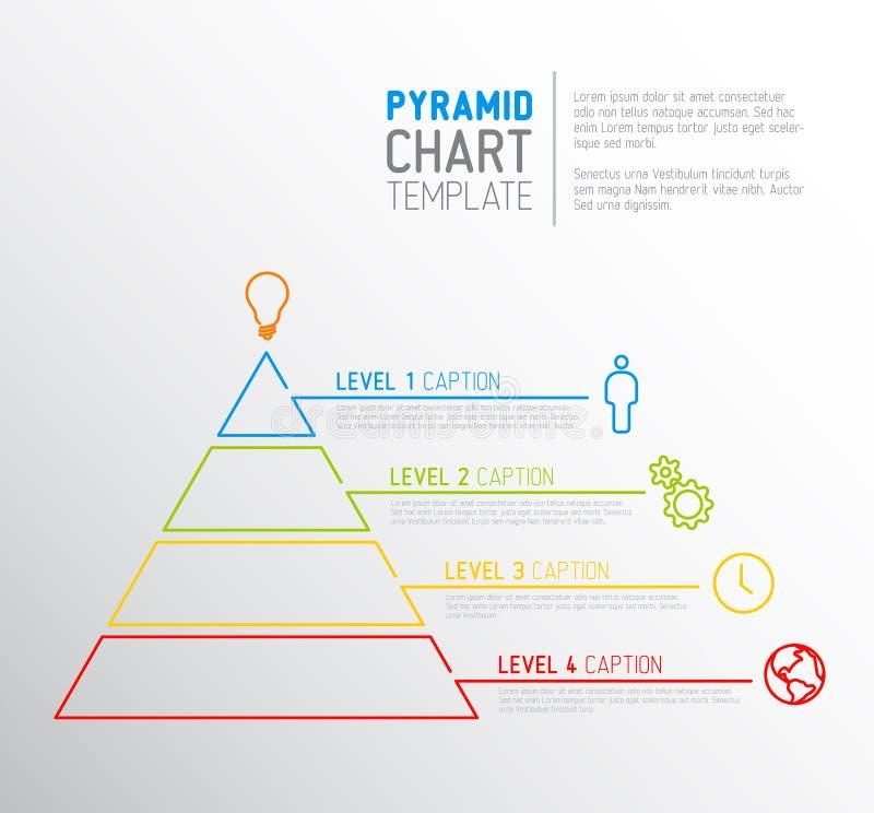 Modello del diagramma di grafico della piramide royalty illustrazione gratis