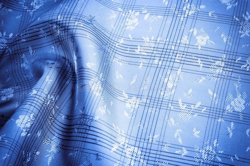 Modello del fondo di struttura Blu del tessuto di seta backg blu elegante immagini stock