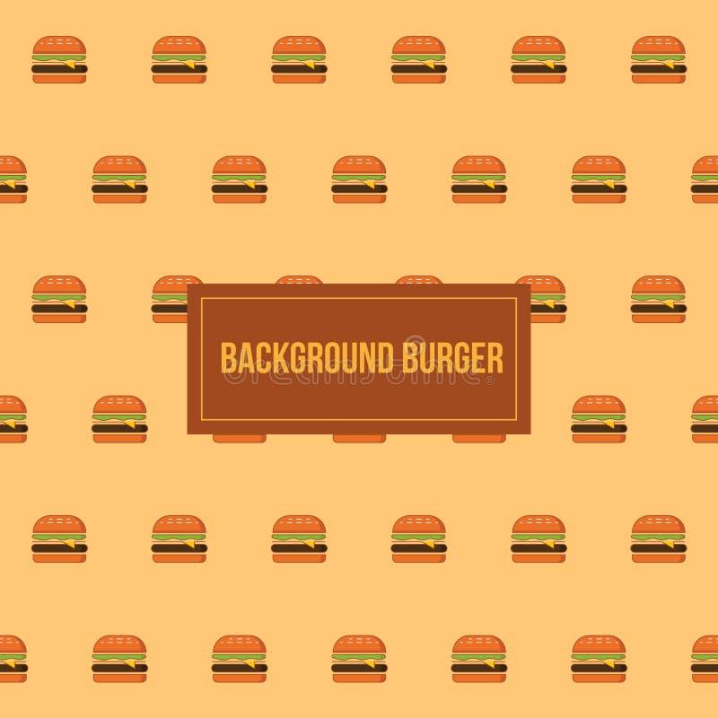 Modello del fondo di vettore del modello dell'hamburger fotografia stock
