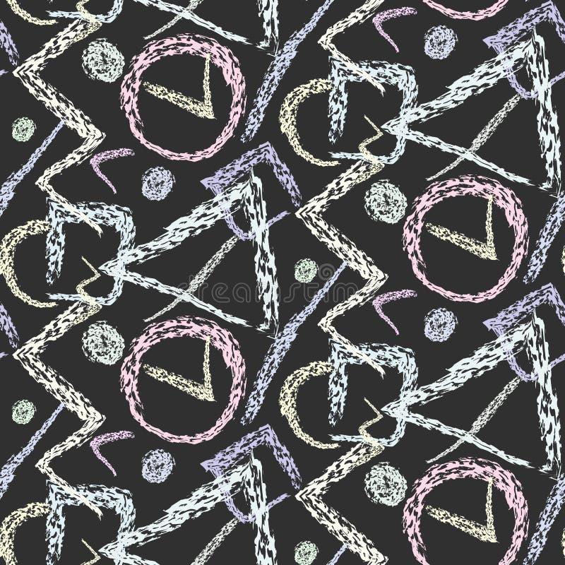 Modello del gesso con le forme geometriche di lerciume illustrazione vettoriale