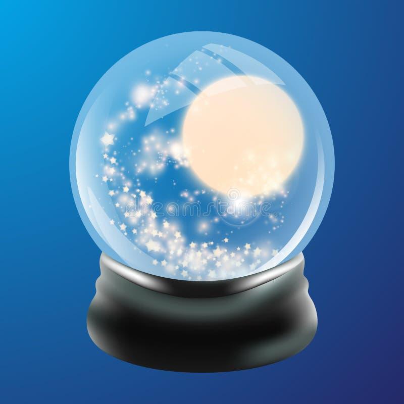 Modello del globo della neve illustrazione di stock