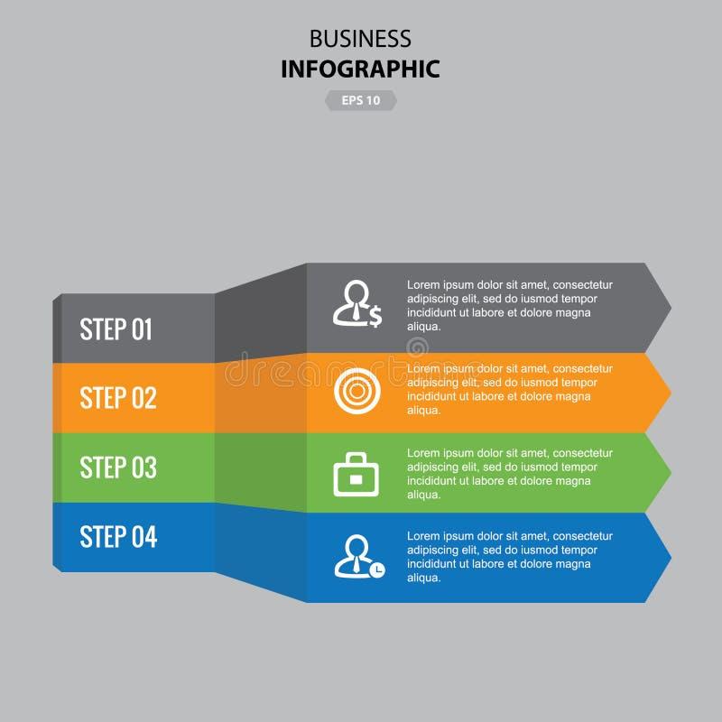 Modello del grafico di informazioni di affari illustrazione di stock
