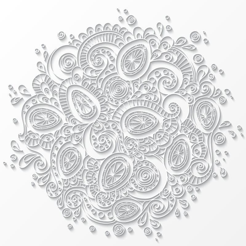Modello del libro bianco con forma del cerchio mandala - Modello di uovo stampabile gratuito ...