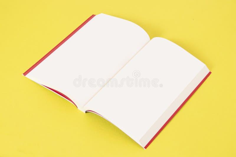 Modello del libro e modello, fondo isolato fotografia stock libera da diritti
