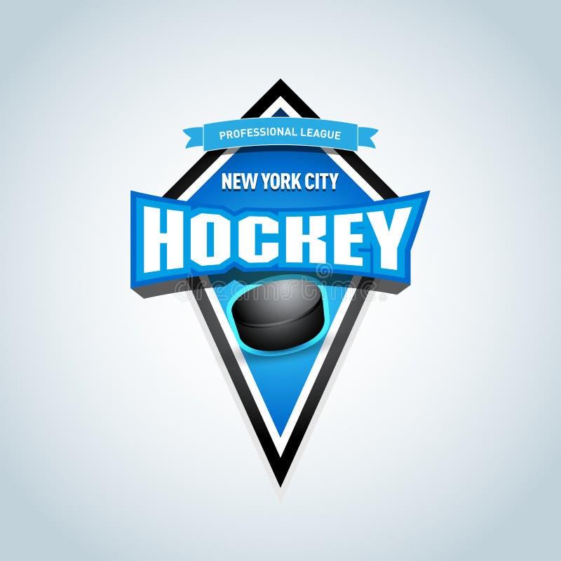 Modello del logotype dello sport di squadra dell'hockey Modello di logo della squadra di hockey Emblema dell'hockey, modello del  illustrazione di stock