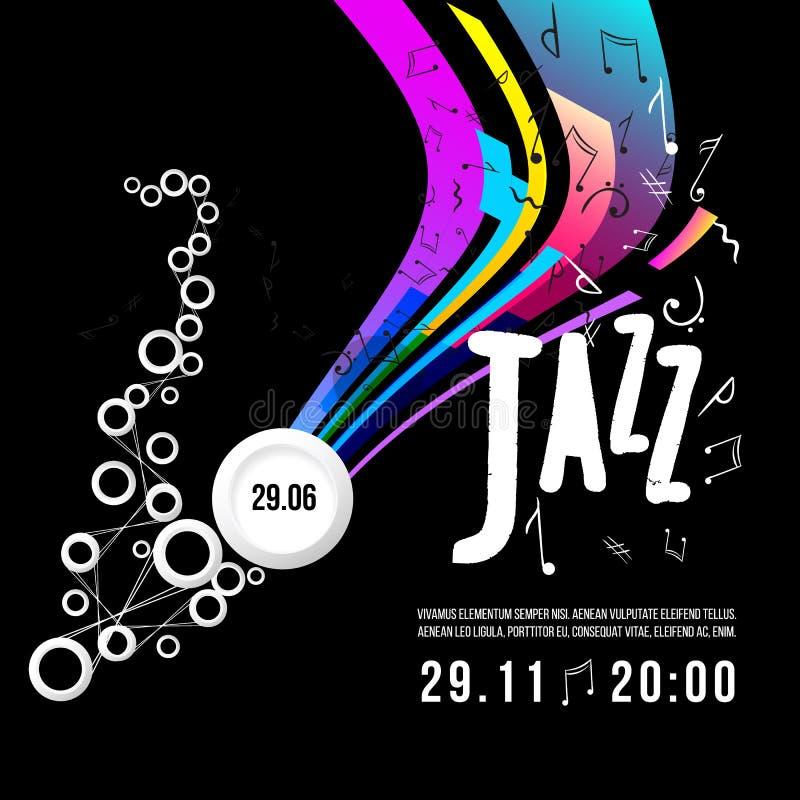 Modello del manifesto di festival di jazz Jazz Music saxophone Giorno internazionale di jazz Elemento di disegno di vettore illustrazione vettoriale