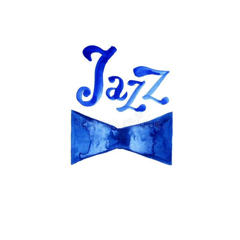 Modello del manifesto di logo di musica di jazz Fondo astratto dell'acquerello per la carta, aletta di filatoio, opuscolo, opusco immagine stock