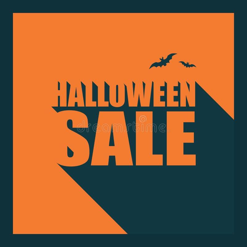 Modello del manifesto di vendita di Halloween Festa speciale illustrazione vettoriale