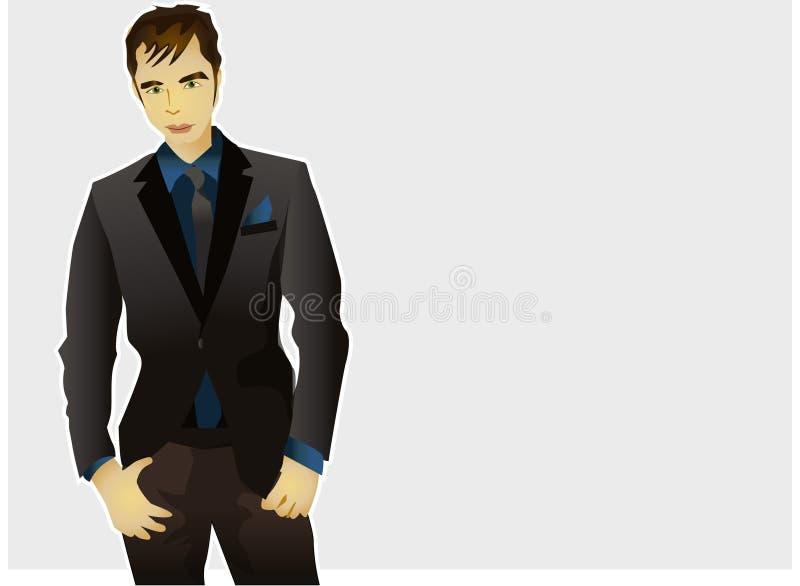 Modello del maschio di modo illustrazione vettoriale