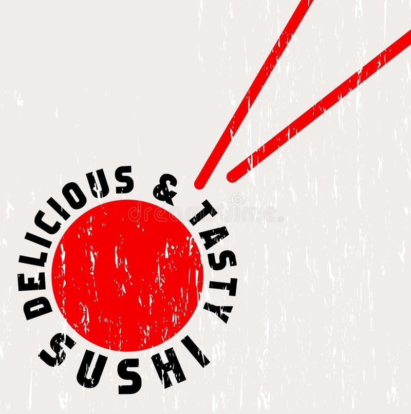 Modello del menu del ristorante di sushi illustrazione di stock