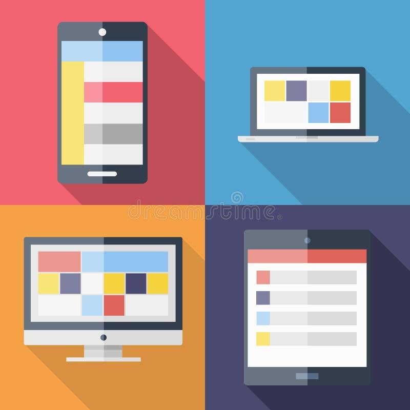 Modello del menu di applicazione fotografia stock libera da diritti