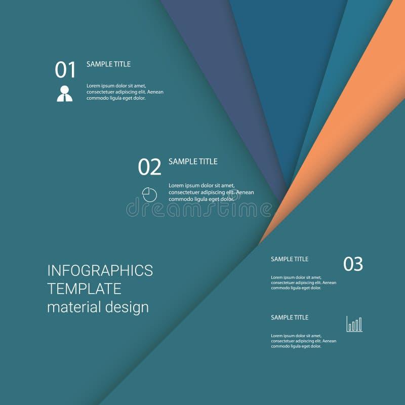 Modello del menu di Infographics con gli elementi e le icone di affari per la presentazione Fondo materiale di vettore di progett illustrazione vettoriale