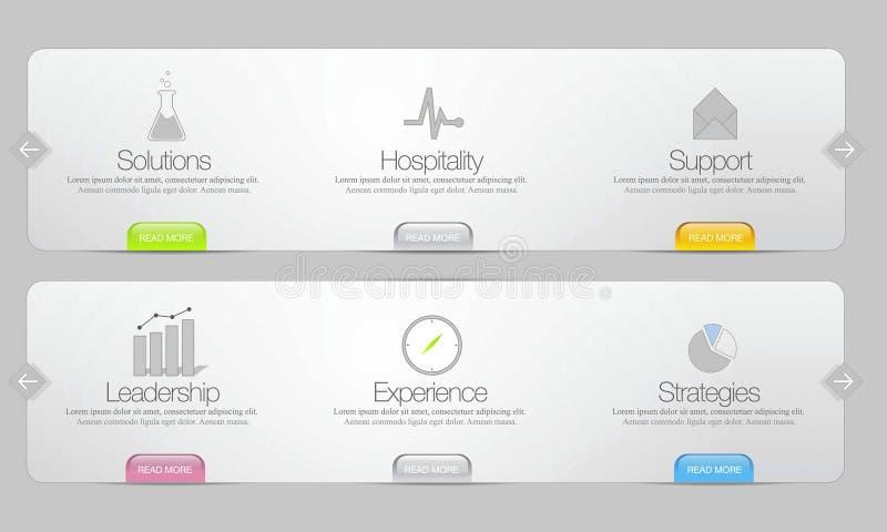 Modello del menu di Web site di vettore immagini stock libere da diritti