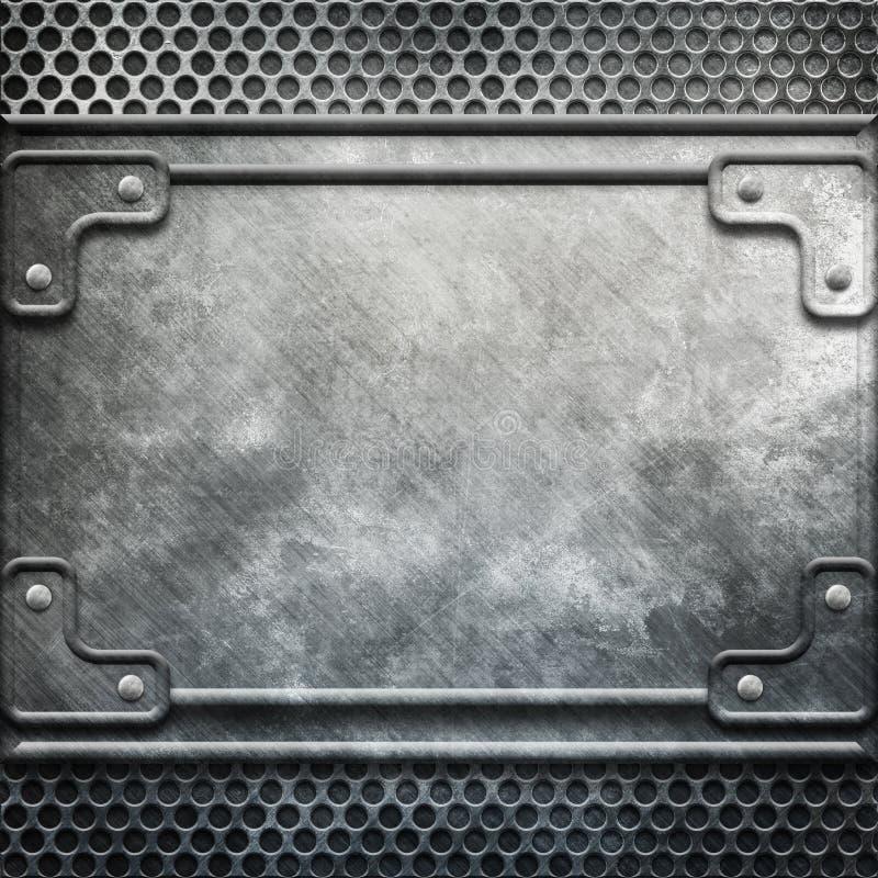 Modello del metallo illustrazione di stock