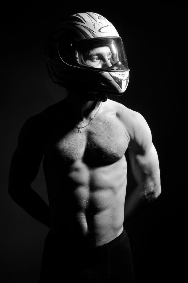 Modello del motociclista fotografia stock libera da diritti
