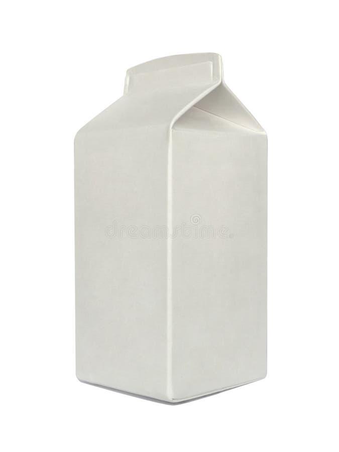 Modello del modello del pacchetto del cartone del latte immagine stock