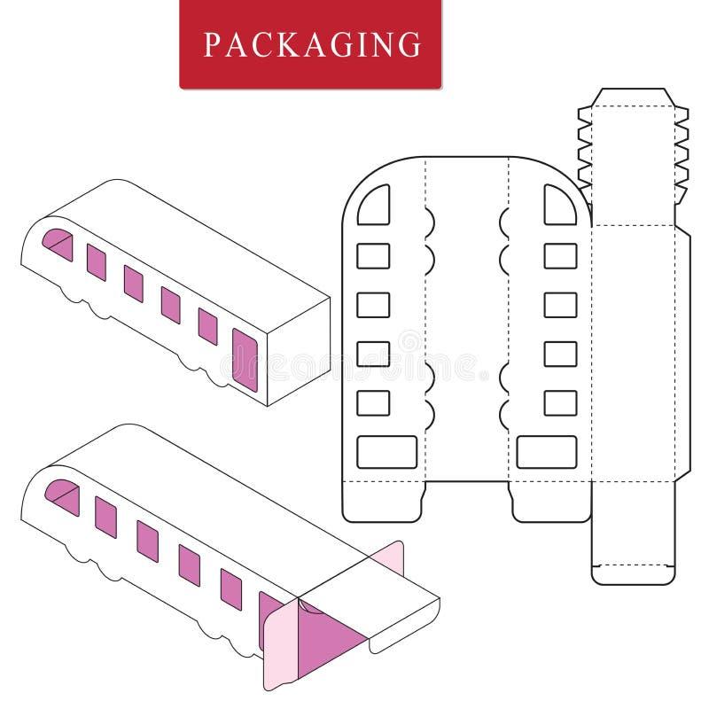 modello del pacchetto Derisione al minuto bianca isolata su illustrazione di stock