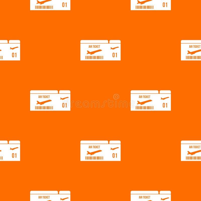 Modello del passaggio di imbarco di linea aerea senza cuciture illustrazione di stock