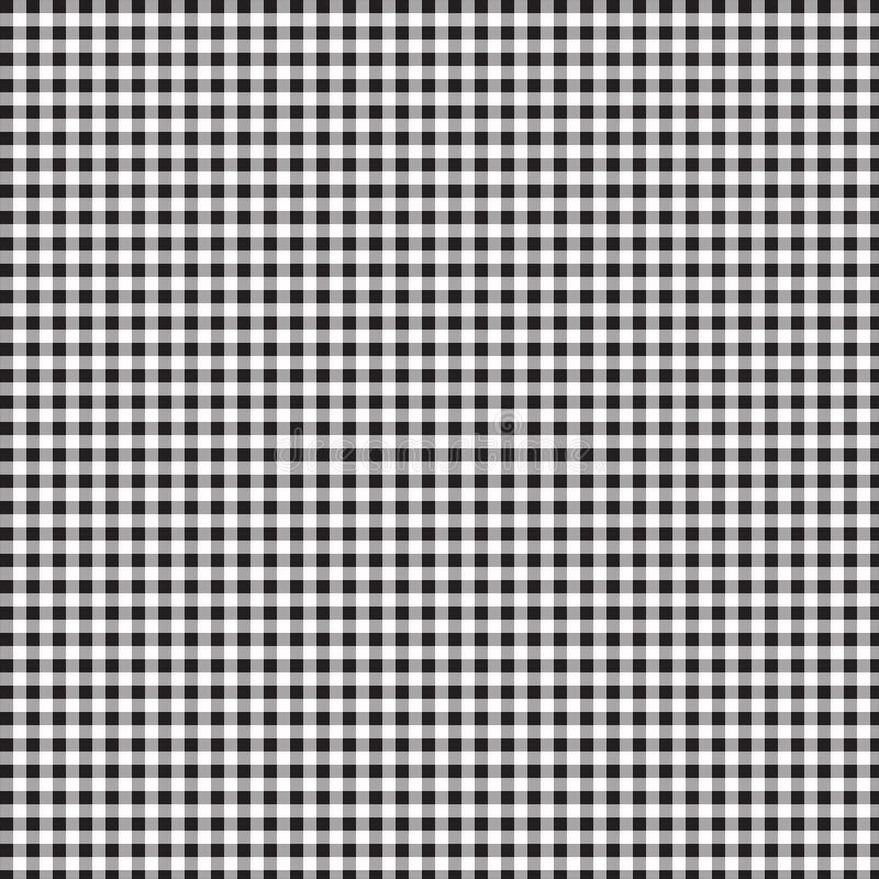 Modello del percalle del mattone refrattario Modello senza cuciture del nero del fondo della tovaglia Reticolo verde senza giunte illustrazione vettoriale