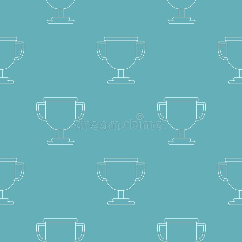 Modello del premio della tazza senza cuciture royalty illustrazione gratis