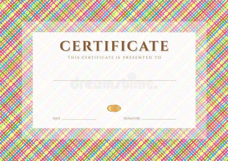 Modello del premio diploma/del certificato. Modello royalty illustrazione gratis