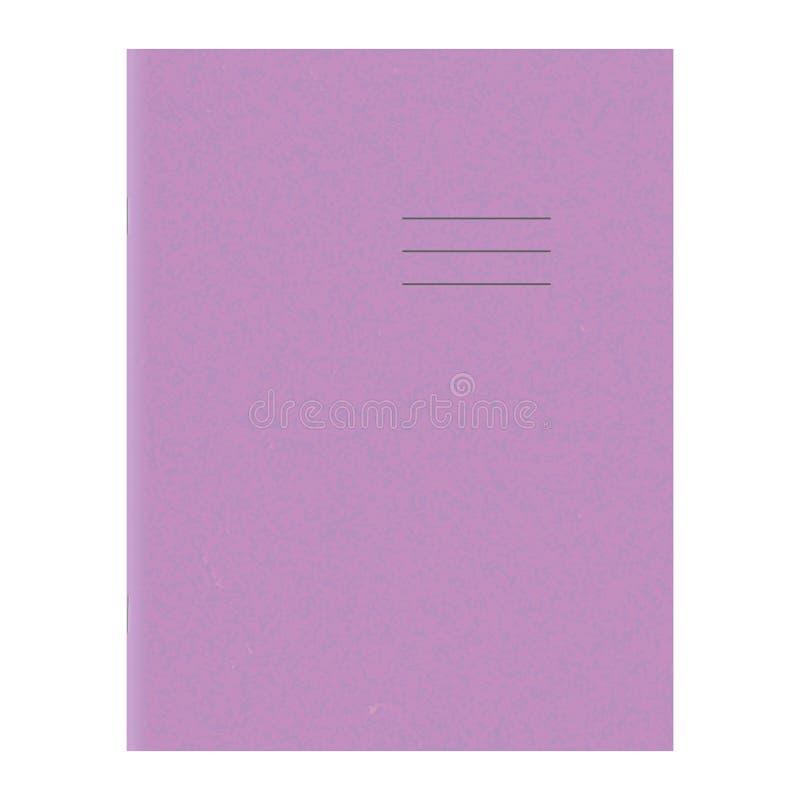Modello del quaderno Copertura in bianco del libro di esercizi della scuola illustrazione di stock