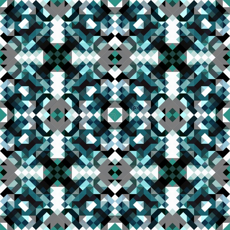 Modello del modello senza cuciture geometrico blu dei piccoli pixel royalty illustrazione gratis