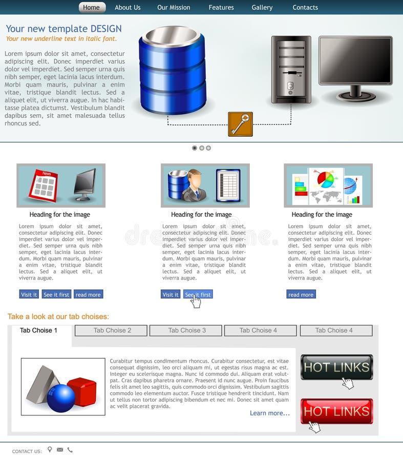 Modello 4 del sito Web illustrazione vettoriale