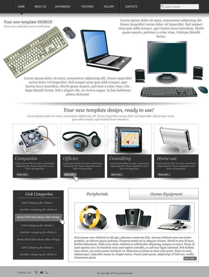 Modello 27 del sito Web illustrazione vettoriale