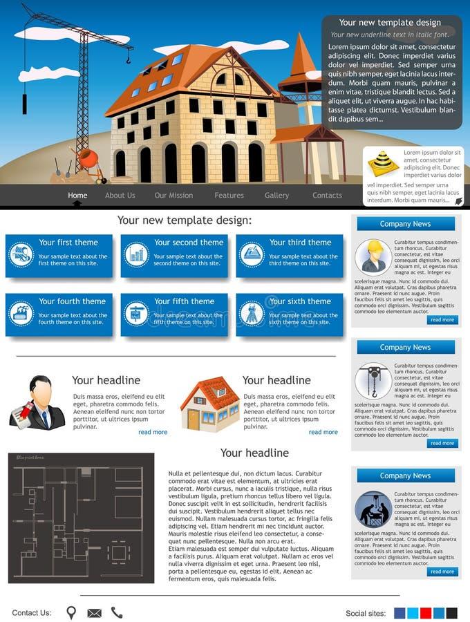 Modello 29 del sito Web illustrazione di stock