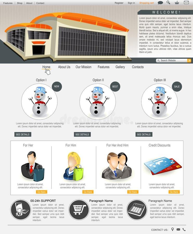 Modello 65 del sito Web royalty illustrazione gratis