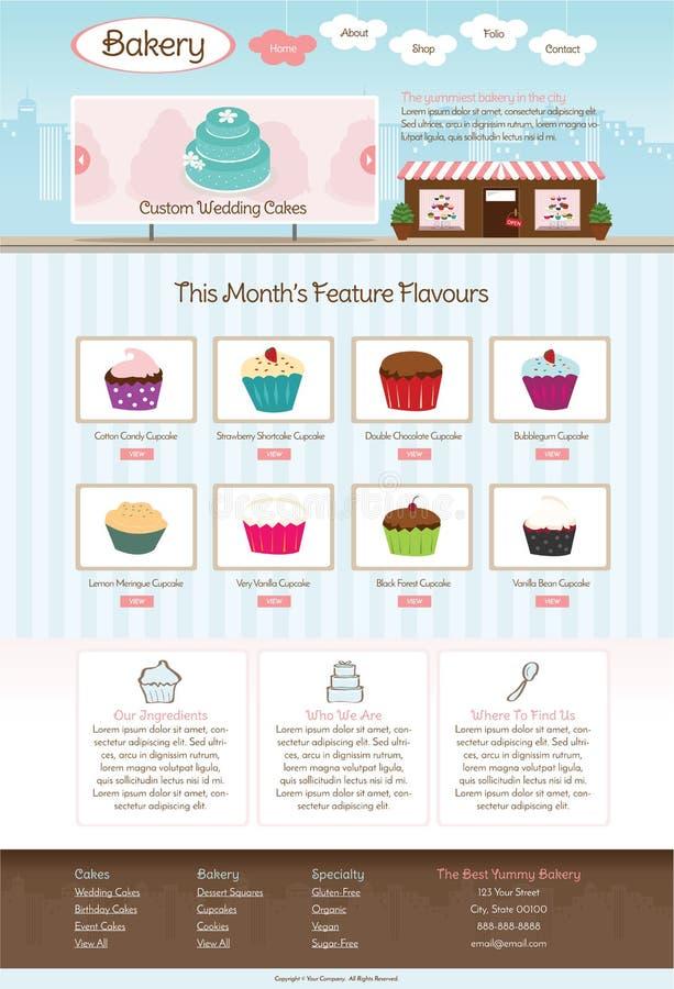 Modello del sito Web del forno royalty illustrazione gratis