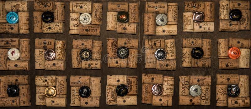 Modello del sughero con il tappo di bottiglia fotografie stock libere da diritti