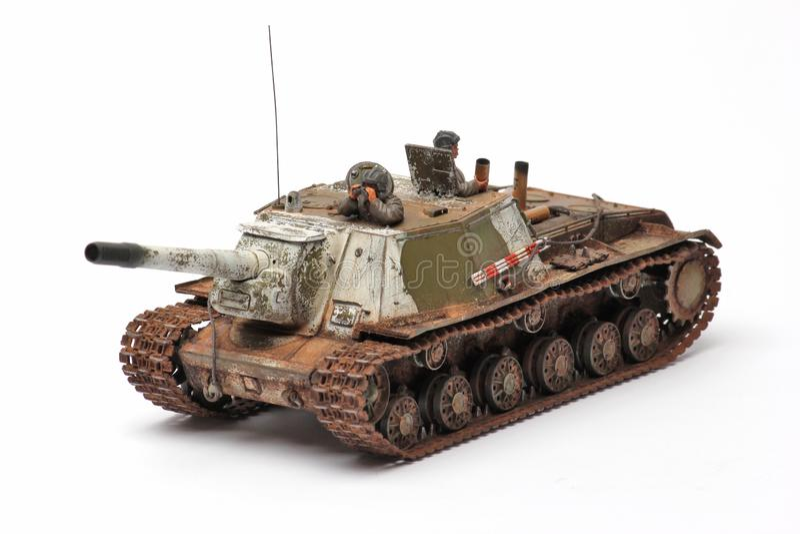 Modello del supporto di un carroarmato militare fotografia stock